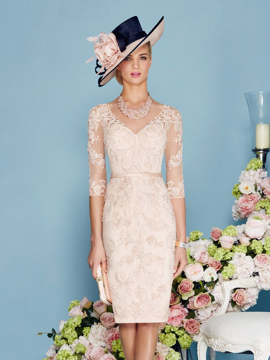 Fashion Ronald Joyce 2016 Knee Length Lace Mother Of The Bride ...