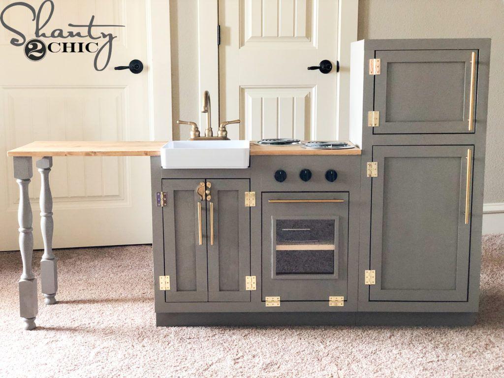 DIY Play Kitchen | Diy kids kitchen, Diy play kitchen, Girls ...