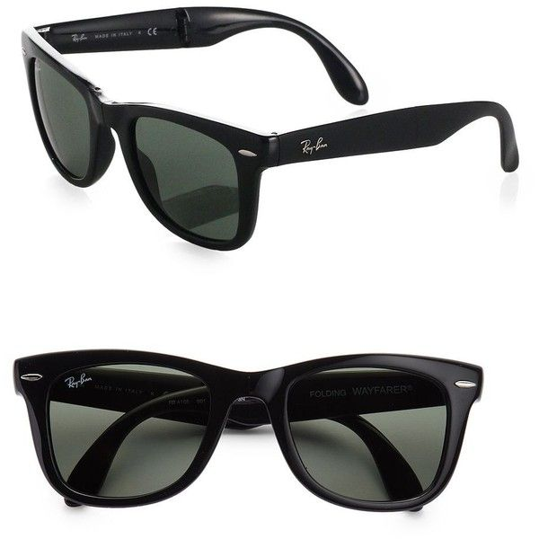 475a42093ad6a Ray-Ban Folding Wayfarer Sunglasses ( 165) ❤ liked on Polyvore featuring  accessories