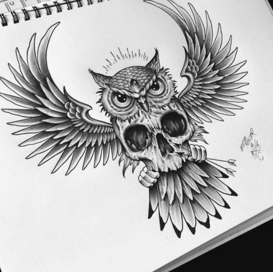 21 Tattoo Back Of Neck Owl In 2020 Owl Tattoo Drawings Owl Skull Tattoos Owl Tattoo