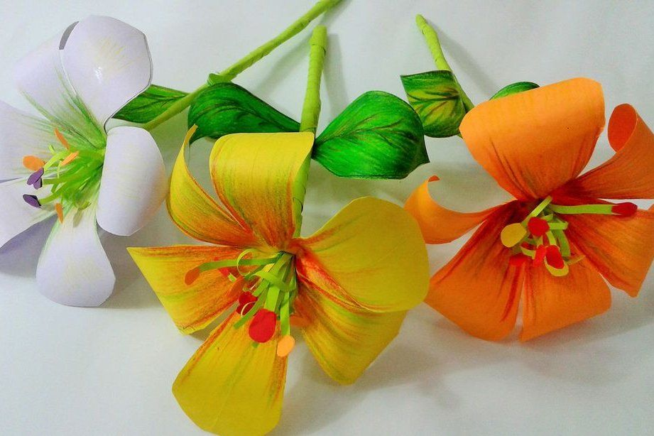 How About Orange: Paper flower ornaments | 614x921
