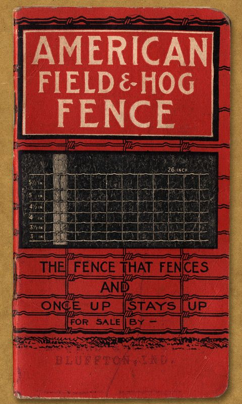 American Field & Hog Fence. The fence that fences and once up stays up. For sale by Bluffton, Inc.