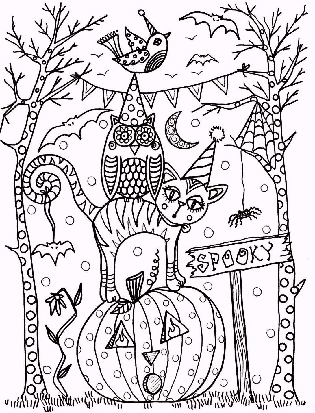 Coloringpagesfortoddlers Com Enjoy These Free Printable New Vintage Halloween Coloring Halloween Coloring Book Fall Coloring Pages Halloween Coloring Pages