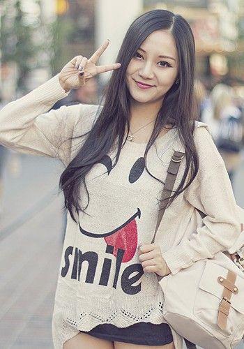 Beige Smile Top   #ustrendy www.ustrendy.com