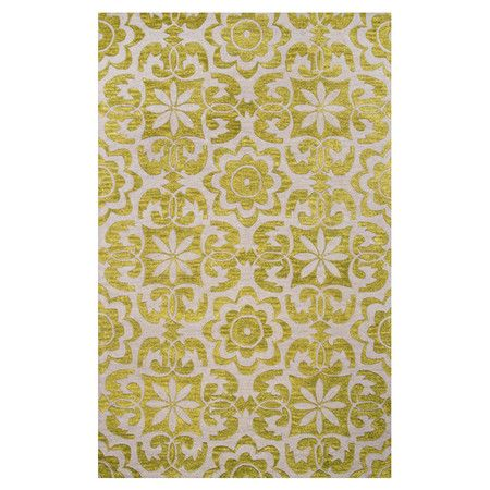 Showcasing a floral motif in a mustard hue, this eye-catching rug adds a pop of pattern to your living room or master suite.     Pr...