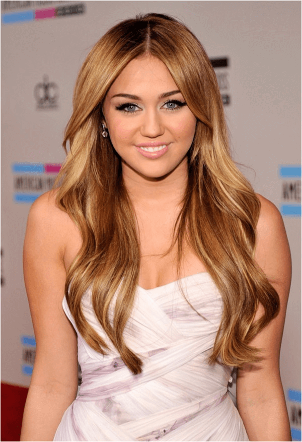 Lange haare spitzen blond