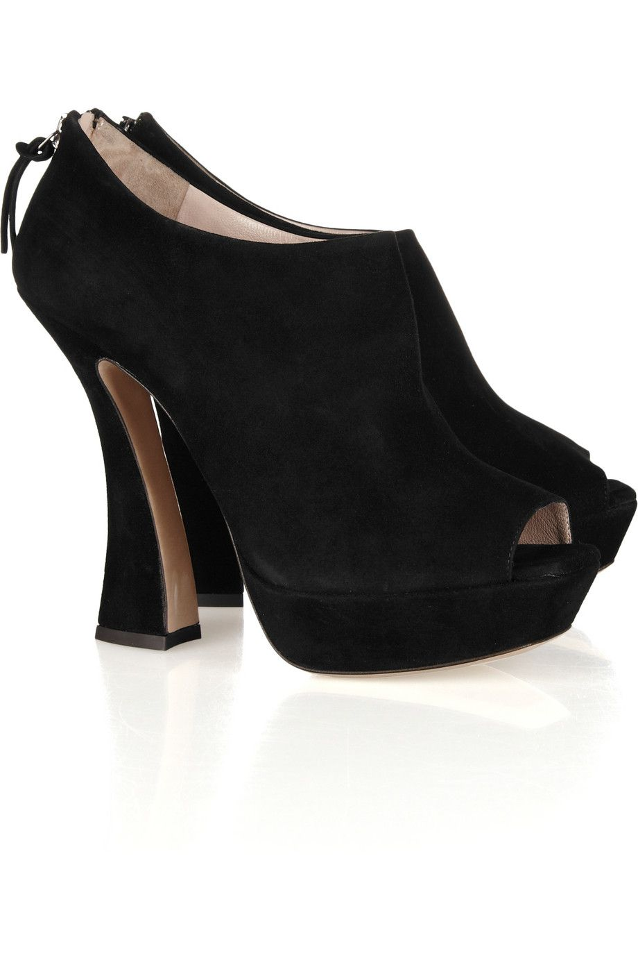 f1fb0981f7f Miu Miu suede peep-toe ankle boots  honestly.... miu miu can do no wrong      via NET-A-PORTER.COM