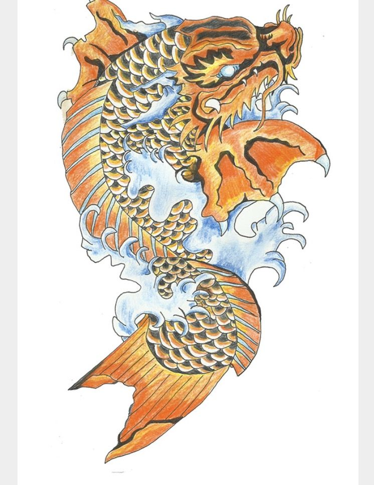 Koi Dragon Tattoo Koi Dragon Tattoo Koi Dragon Dragon Koi Fish