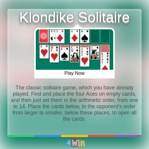 Klondike Solitaire Game Free Online Games In 2020 Play Free Online Games Solitaire Games Free Online Games