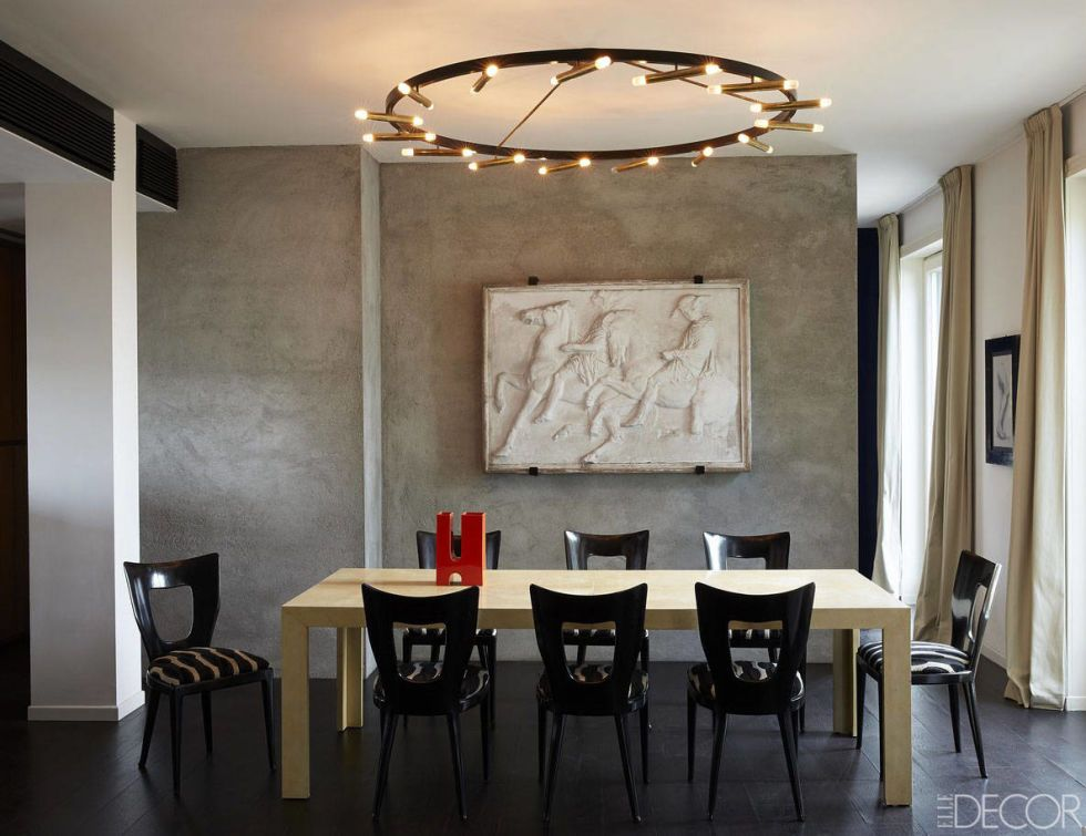 Love the specially mixed concrete walls Tour A Charming Italian Apartment - Inside JJ Martin's Milano home