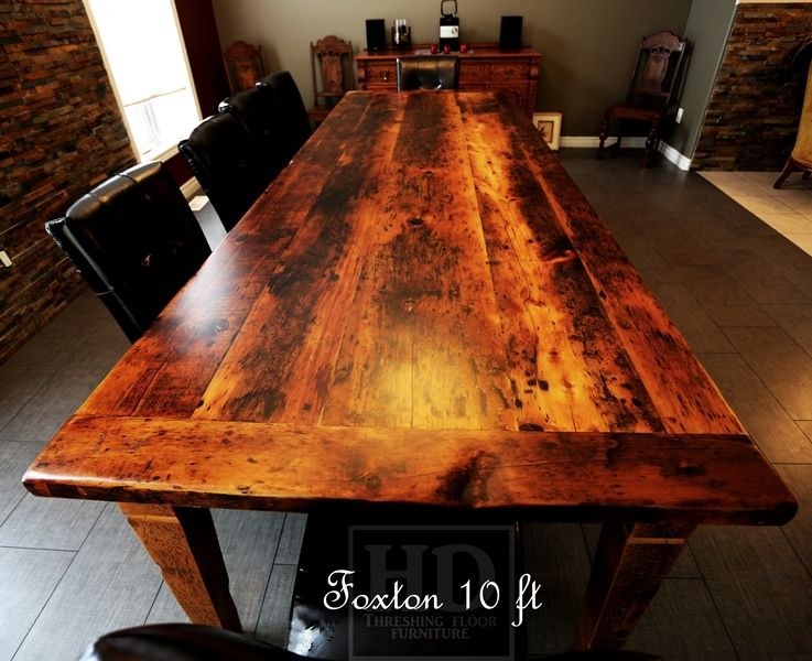 Reclaimed Wood Harvest Table With Epoxy Polyurethane Finish In Grimsby Ontario Barnwood CambridgeON