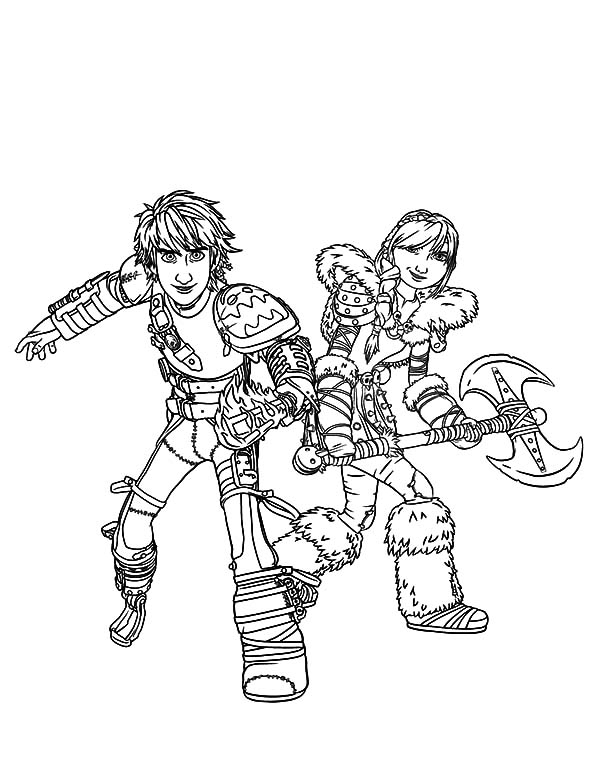 Perfect Couple Hiccup And Astrid In How To Train Your Dragon Coloring Pages Coloring Sky Dragon Coloring Page How Train Your Dragon Coloring Pages