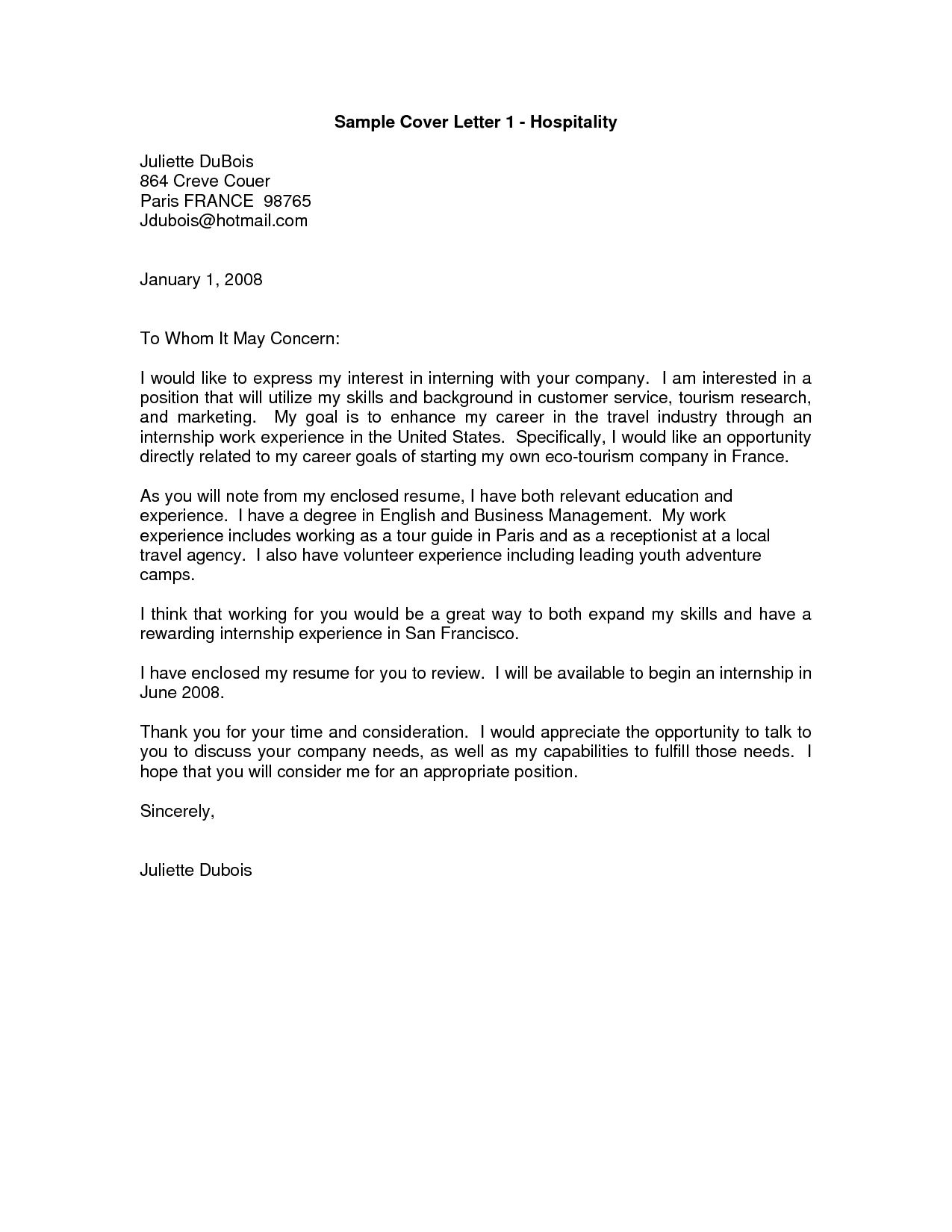 Cover Letter To Whom It May Concern Alternative Cover
