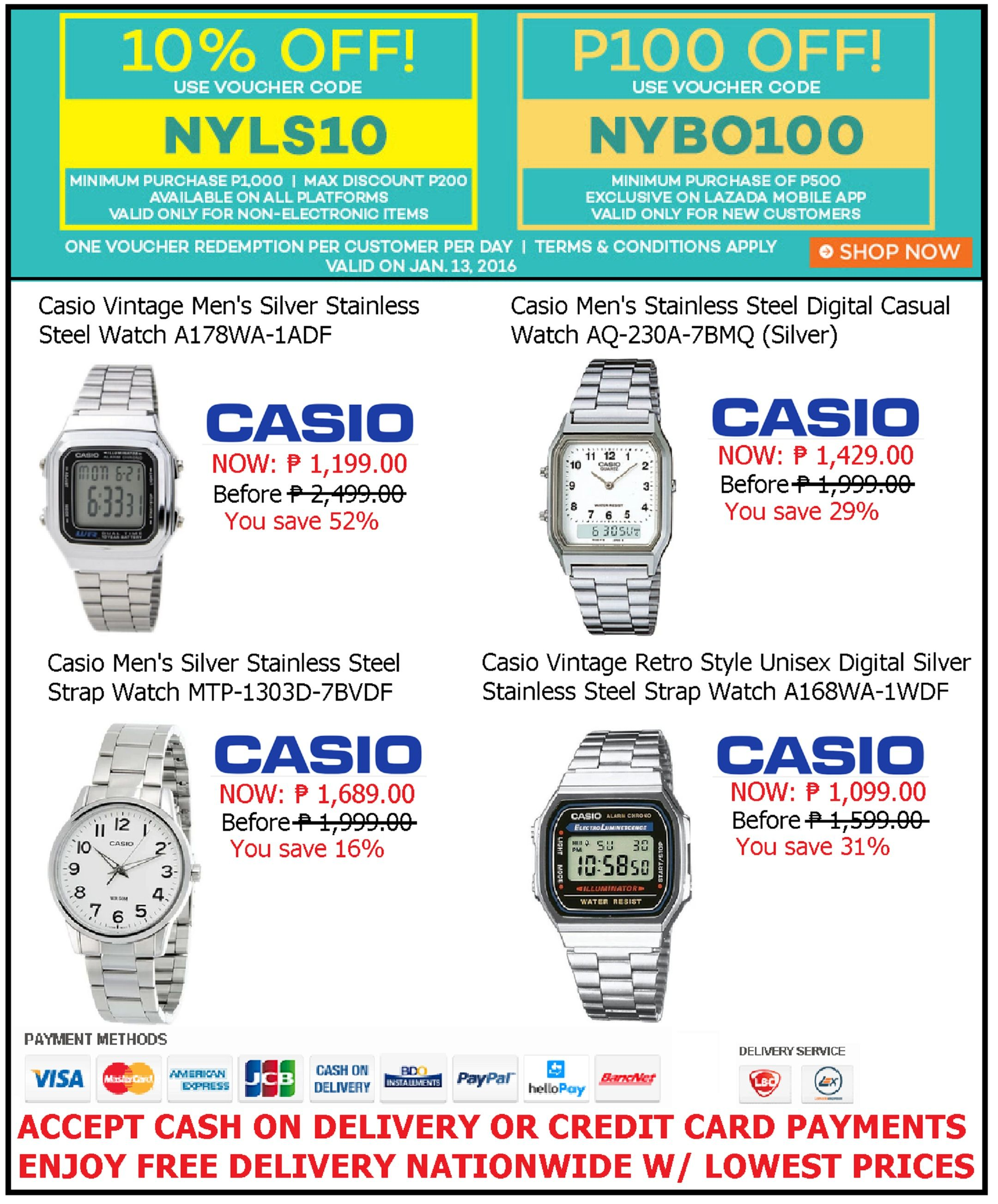 CASIO WATCH SALE LAZADA'S NEW YEAR BLOWOUT PROMO! SAVE