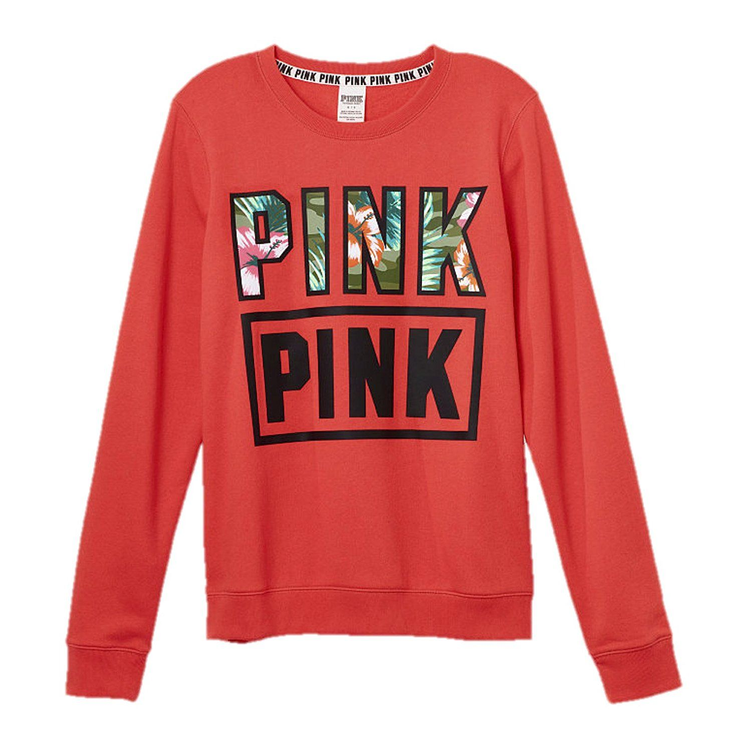 Victoria S Secret Pink Perfect Crew Sweatshirt Tropical This Is An Amazon Affiliate Link For More Pink Crewneck Red Crew Neck Sweater Leopard Print Outfits [ 1500 x 1471 Pixel ]