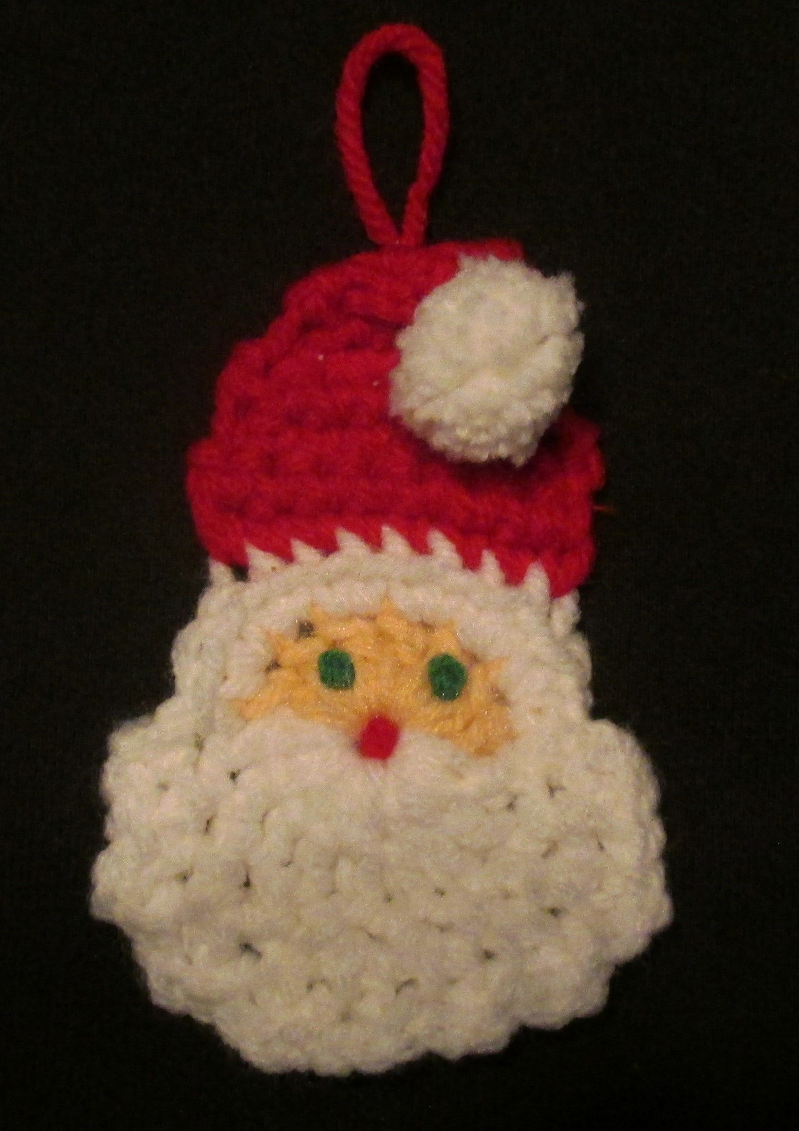 Santa Face Tree Ornamentom An Old Workbasket Magazine Pattern