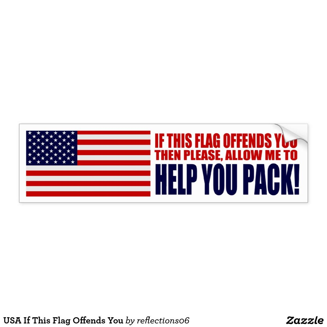 Usa if this flag offends you car bumper sticker politics usa if this flag offends you car bumper sticker biocorpaavc