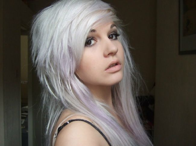 White purple pastel   Hair   Pinterest   White hair, Hair dye and ...