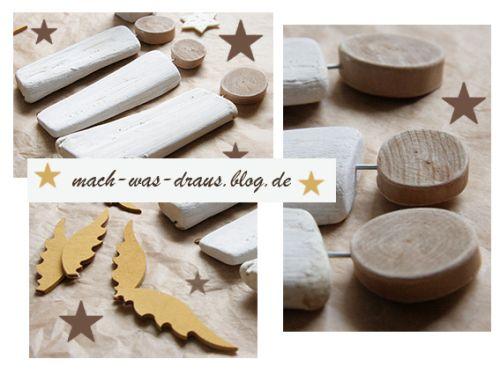Die Engel Sind Fertig...holzdeko Für Weihnachten - Www.mach-was ... Diy Weihnachtsdeko Blog