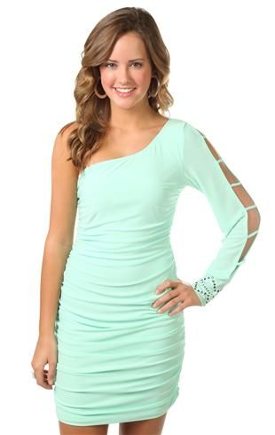 One Arm Dress At Debs I Want This As My Winter Carnival Dress