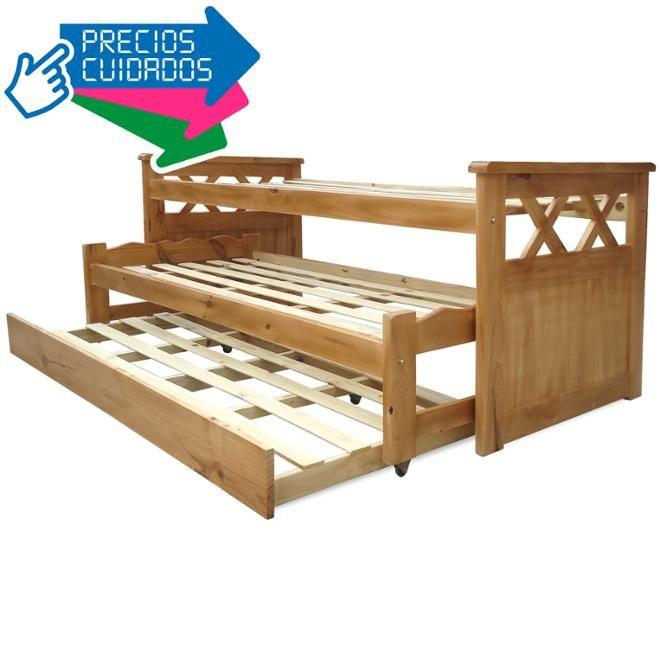 Cama nido triple muebles creativos pinterest camas for Muebles lufe cama nido