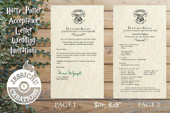 Envelope Personalised HANDMADE HARRY POTTER Invites Evening Invitations