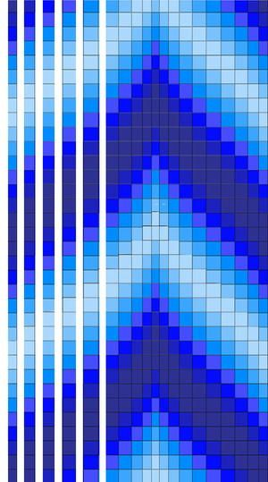 Blue Bargello Quilt Pattern | how to 1 | Bargello quilt