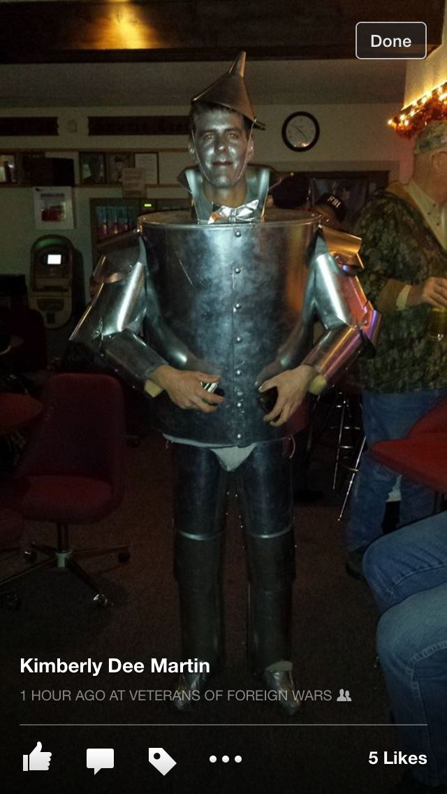 made this for halloween 2013 sheet metal tin man was a lot of work
