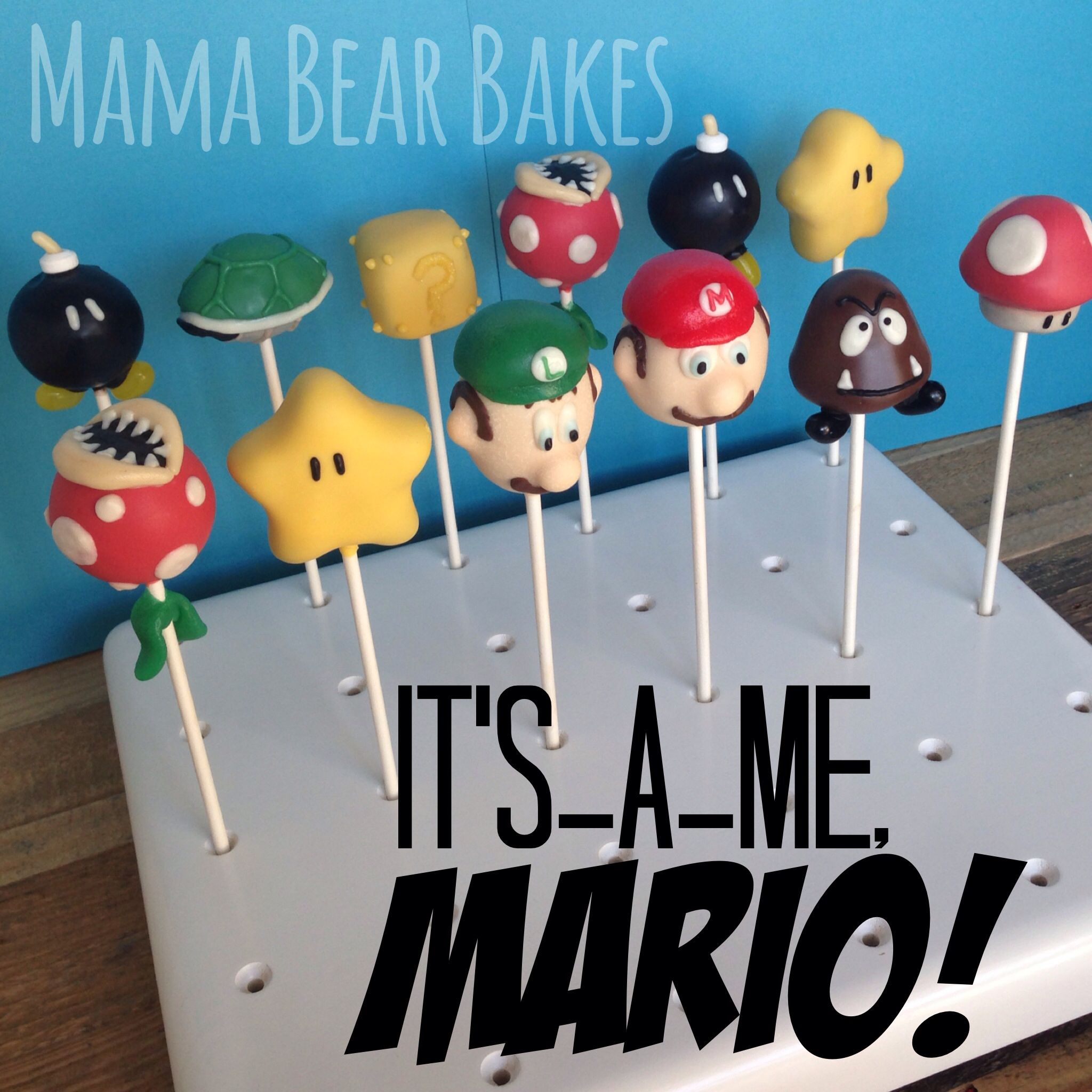 Super Mario Bros Cake Pops From Mama Bear Bakes Perfect For A