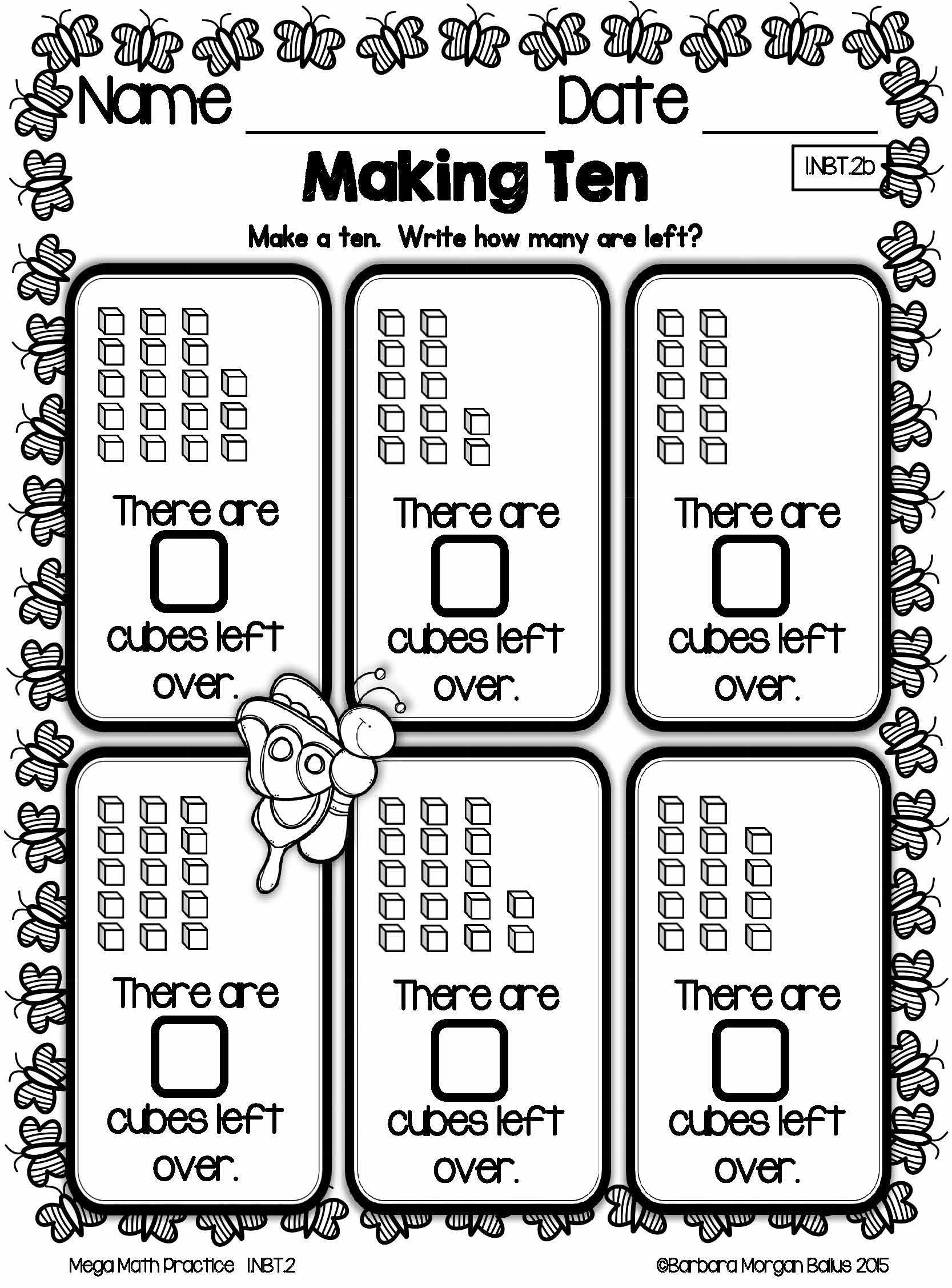 Spring First Grade Math Place Value Mega Math Practice