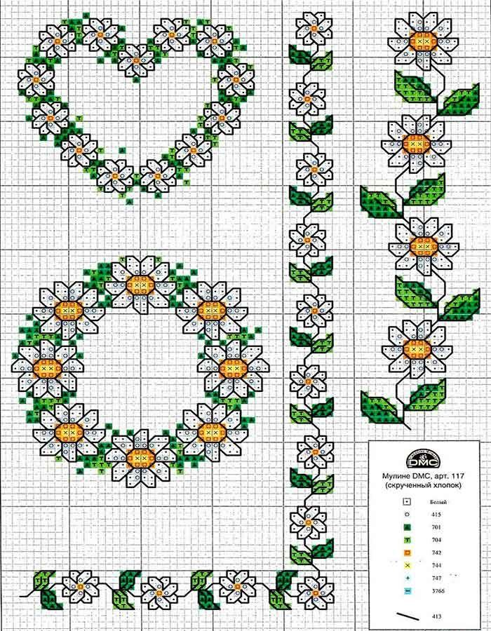 Cenefas de punto de cruz para manteles punto de cruz - Manteles de punto de cruz ...