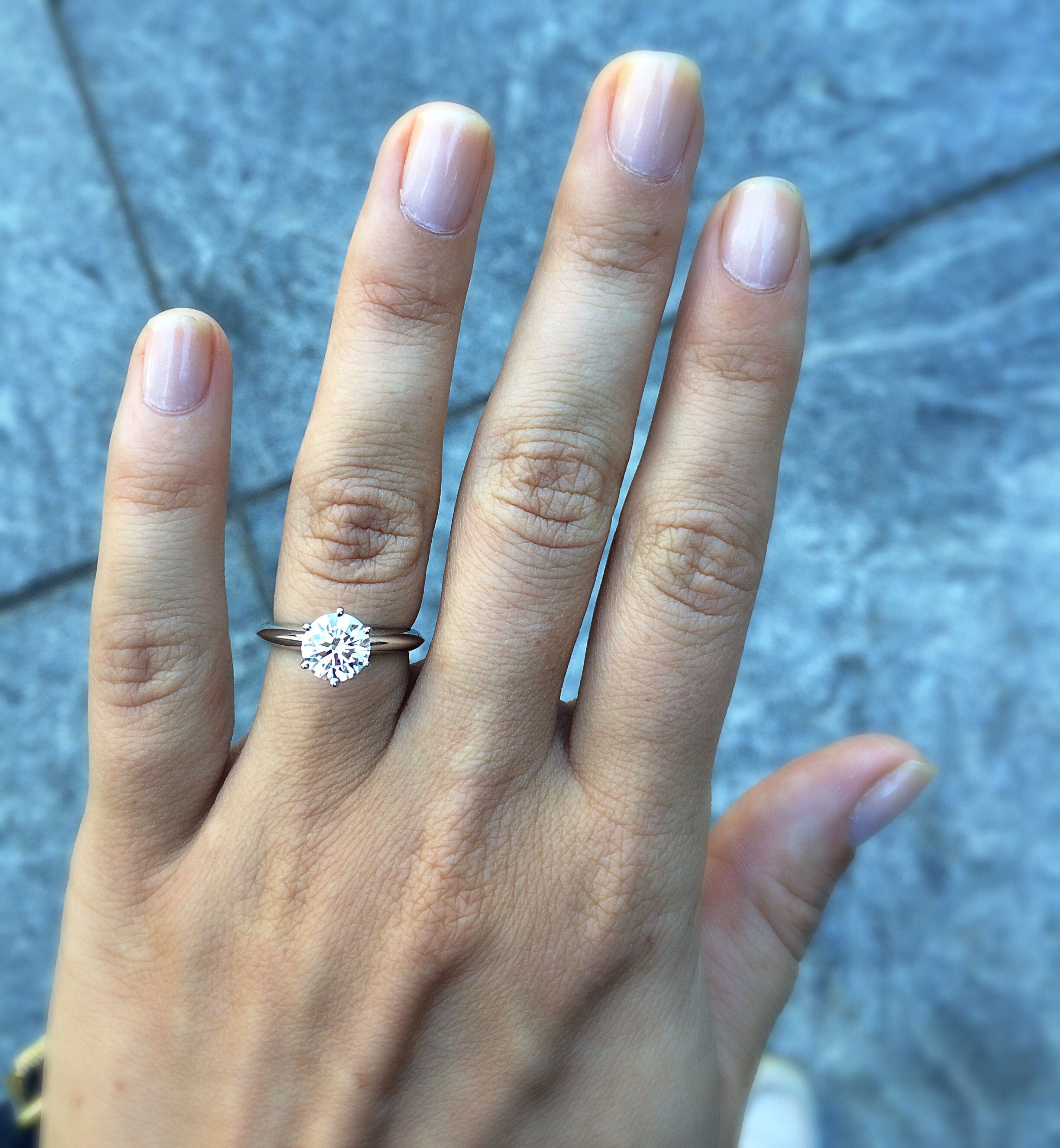 Let Me See Tiffany Rings Weddingbee Engagement Rings Opal Tiffany Rings Engagement Ring On Hand