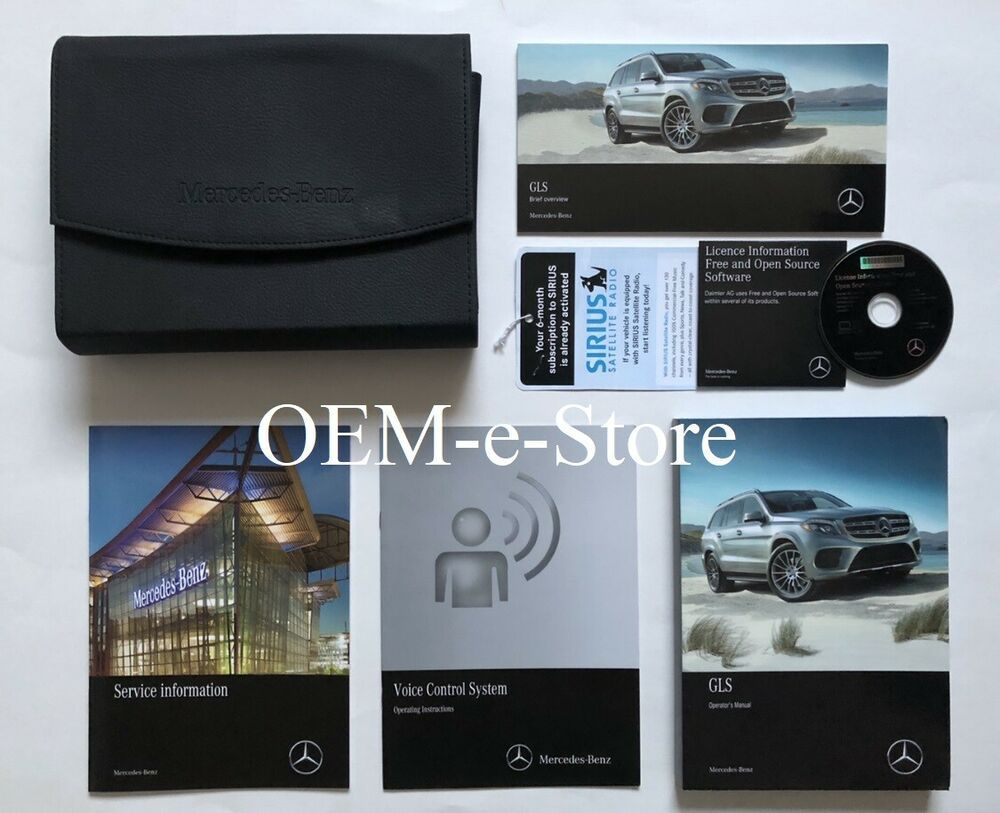 Advertisement Ebay 2018 Mercedes Gls63 Gls350d Gls550 Gls450 Owners Manual Voice Control Book Set Owners Manuals Book Set Voice Control