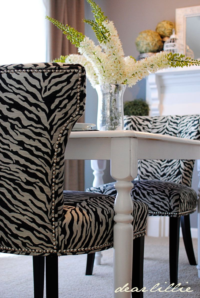 Esszimmerstühle Zebra Love These Zebra Chairs Everything Animal Print