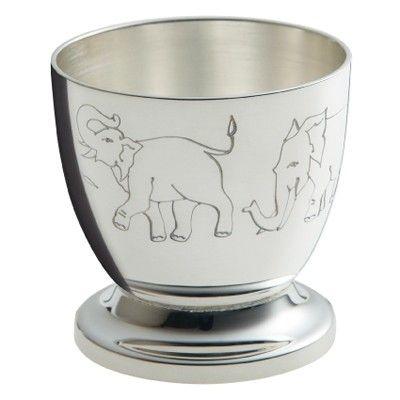 Coquetier Eléphants (métal argenté) - Ercuis