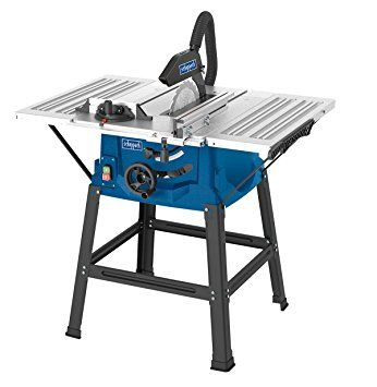Scheppach Hs100s 240 V 10 Inch Table Top Saw Bench Blue Amazon Co Uk Diy Tools Extension Table Bench Table Table Top