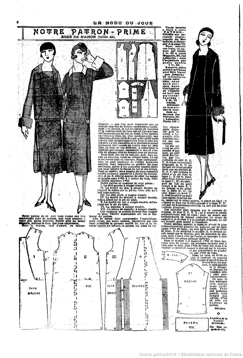 La Mode du jour. 1925/12/17 | 1910-1920\'s FASHION | Pinterest ...