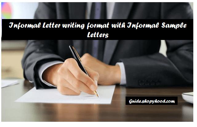 Informal Letter Format  Informal Letter Writing  Informal Letter