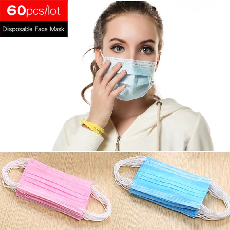 60 pcs disposable masks