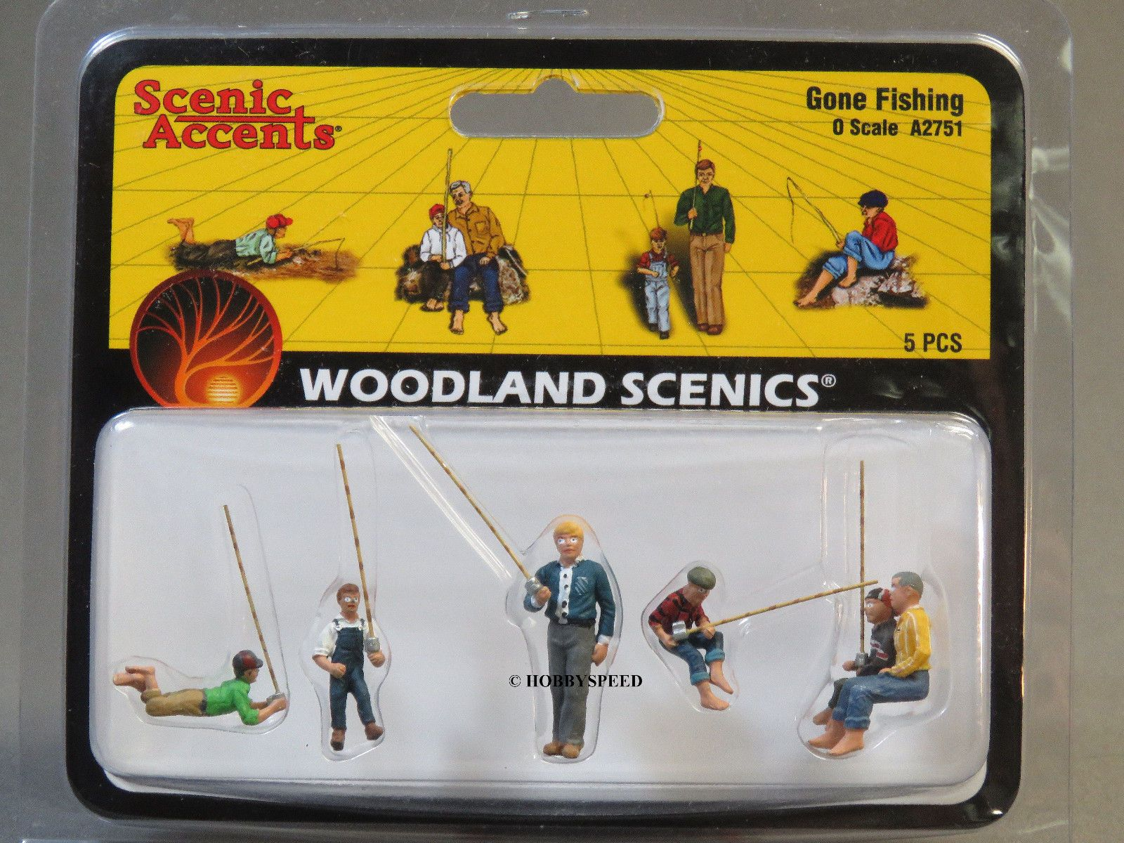 Family Fishing O Scale Figures Woodland Scenics A2756