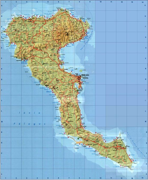 Large Corfu Maps For Free Download High Resolution And Detailed