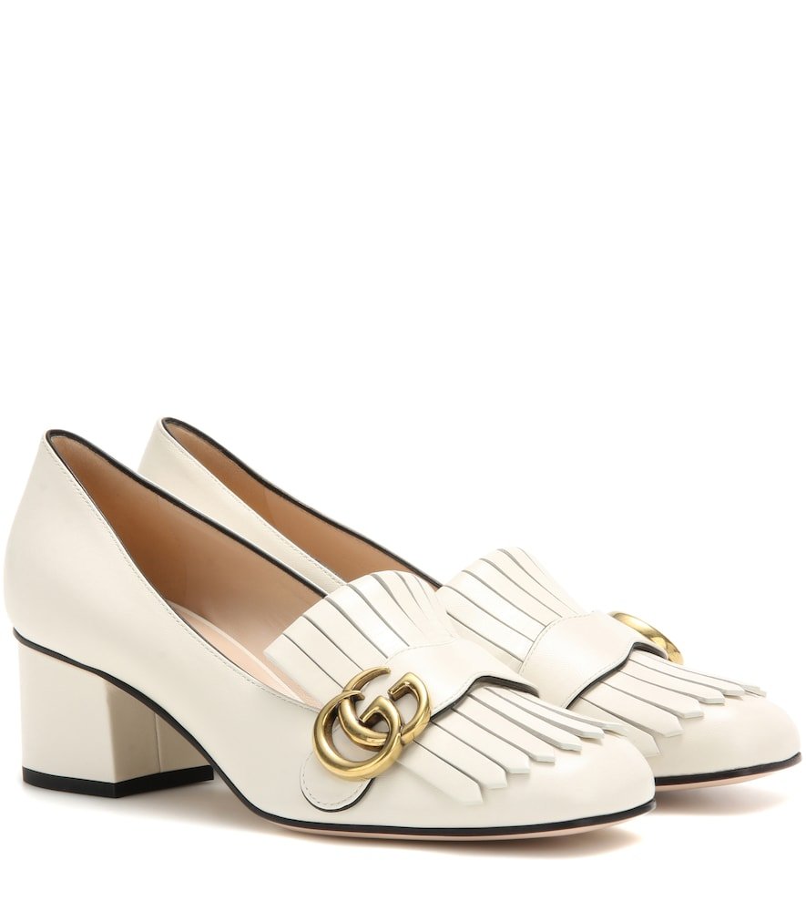 70a844278 Leather loafer pumps | Products in 2019 | White gucci loafers ...