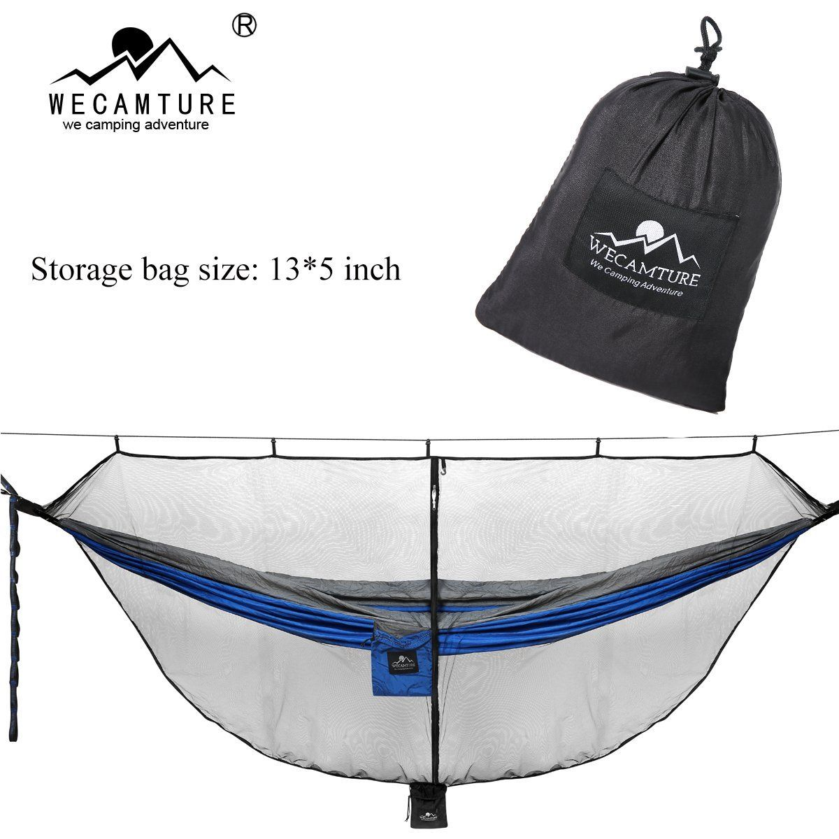 Wecamture Hammock Bug Mosquito Net XL 11x4.6FT No-See-Ums Polyester Fabric for Sporting Goods