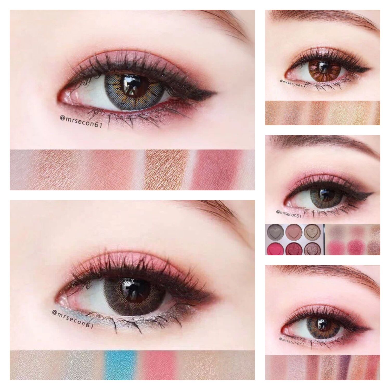 Spring peach eye makeup for Asian eyemakeup makeupideas