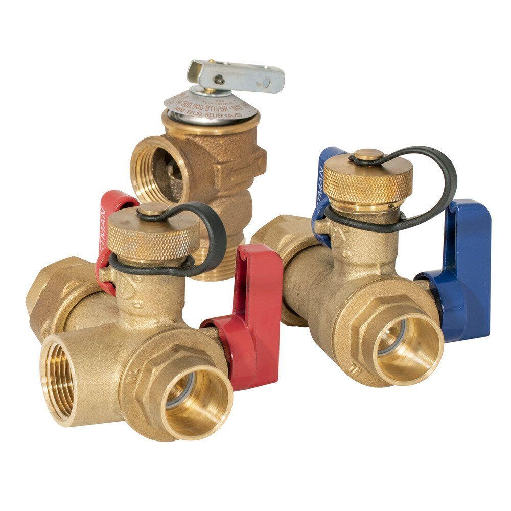 Eastman Tankless Water Heater Service Valve Kit 3 4 In Fnpt Union X 3 4 In Fip In 2020 Tankless Water Heater Water Heater Service Water Heater