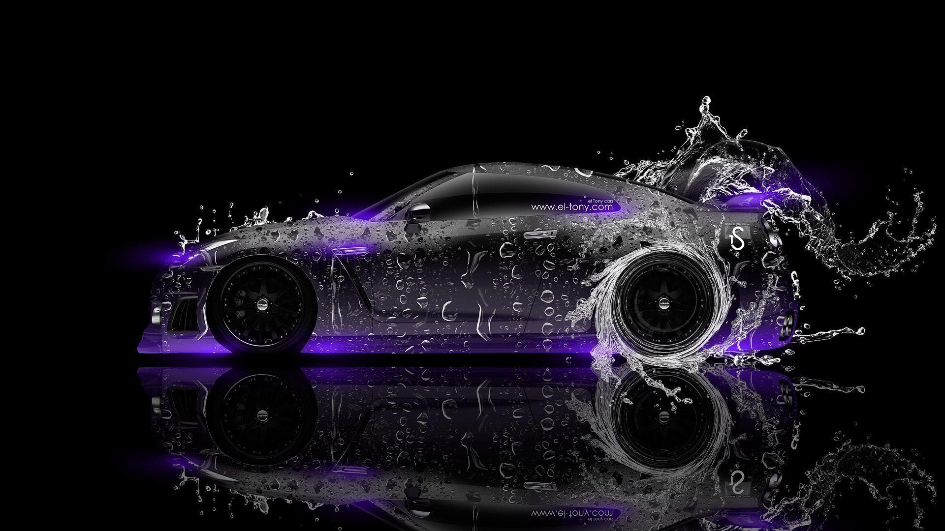 Nissan GTR R35 Front Water Tuning Car 2013 « El Tony | Download Wallpaper |  Pinterest | Nissan Gtr R35