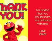 Elmo Birthday Party Invitation Set with Thank You Card Included - Printable Sesame Street Invitation 4x6 or 5x7 DIY. $14.00, via Etsy.