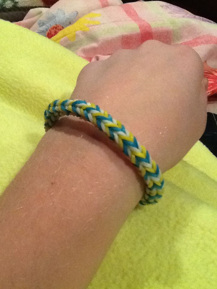 Six sided fishtail rubber band bracelet(hexafish) I didn't ...