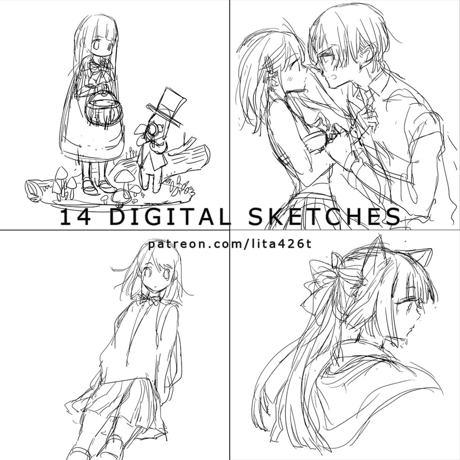 14 Digital Sketches : 20171113 | Tachibana Lita on Patreon