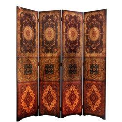 6 ft. Tall Olde-Worlde Baroque Room Divider Decorative Folding Screen
